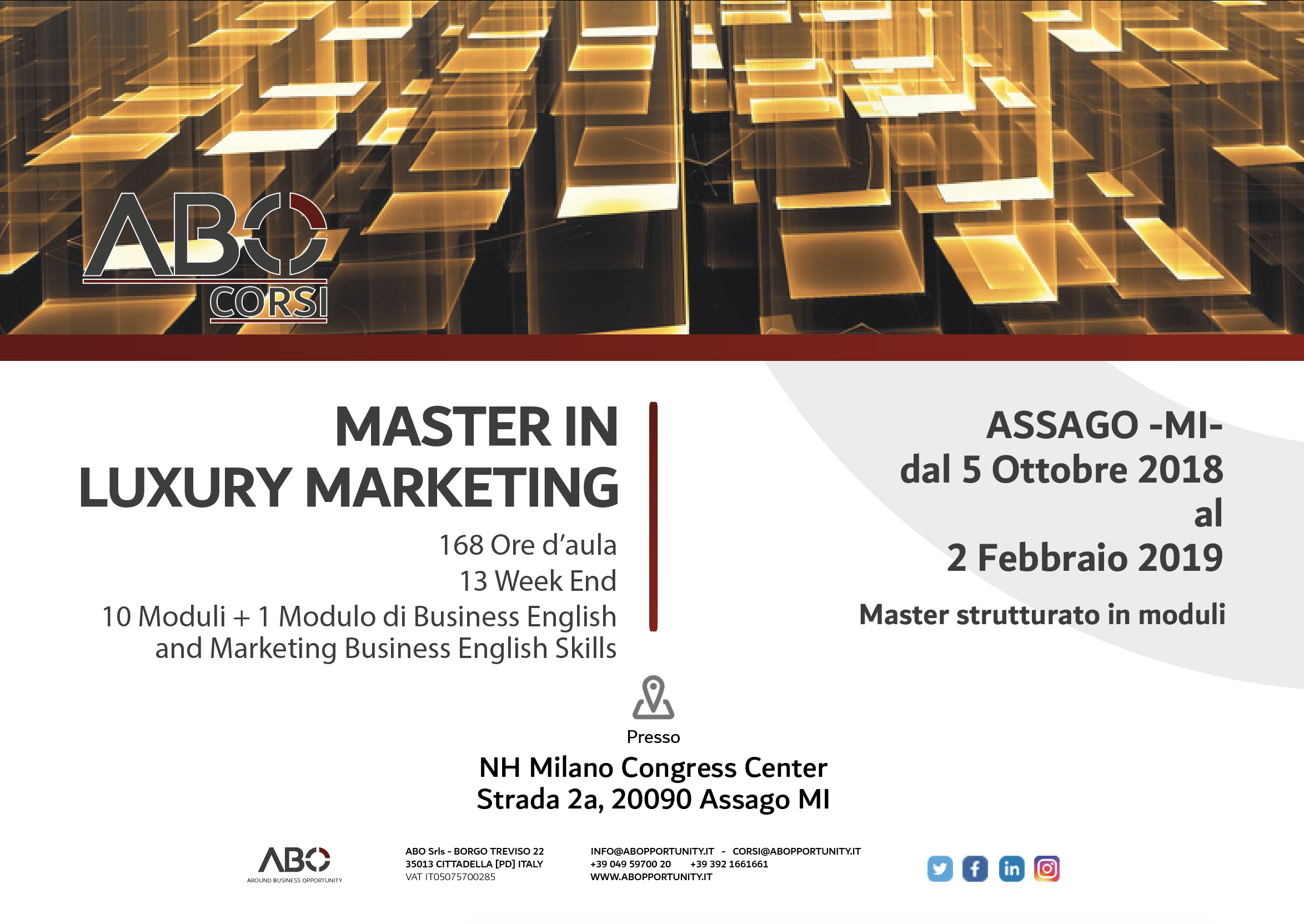 c4a97db6a373 MASTER IN LUXURY MARKETING 2018 2019 - ASSAGO - MILANO - ABOpportunity